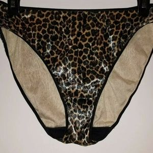 Vintage Jolie Velvet Animal Hi Leg Brief sz 10